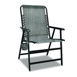 XL Suspension Grey Folding Chair