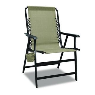 XL Suspension Beige Folding Chair