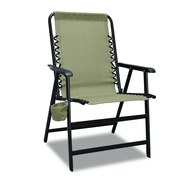 XL Suspension Beige Folding Chair