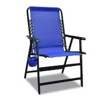 XL Suspension Blue Folding Chair