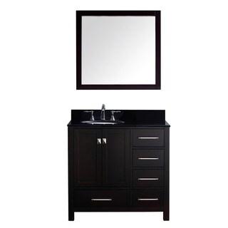 Virtu USA Caroline Avenue 36-inch Single Bathroom Vanity Cabinet Set in Espresso