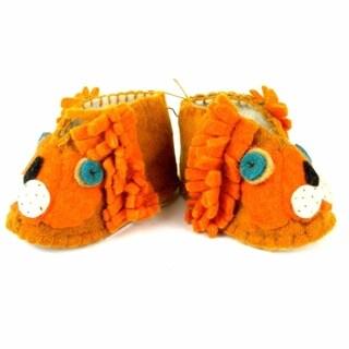 Handmade Felt Lion Zooties Baby Booties (Kyrgyzstan)