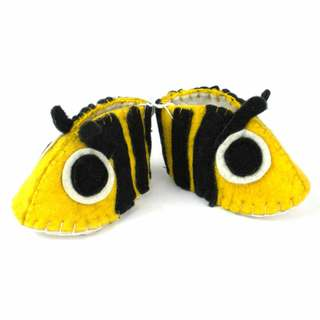 Handmade Felt Bee Zooties Baby Booties (Kyrgyzstan)