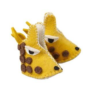 Handmade Felt Giraffe Zooties Baby Booties (Kyrgyzstan)