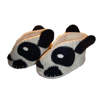 Handmade Felt Panda Zooties Baby Booties (Kyrgyzstan)