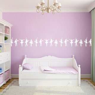 Ballerina Border Wall Decal 30-inch wide x 12-inch tall