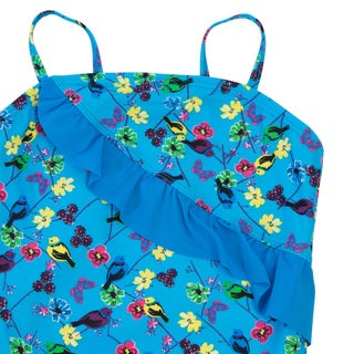 Downeast Outfitters Girl's One Piece Ruffle Swimsuit