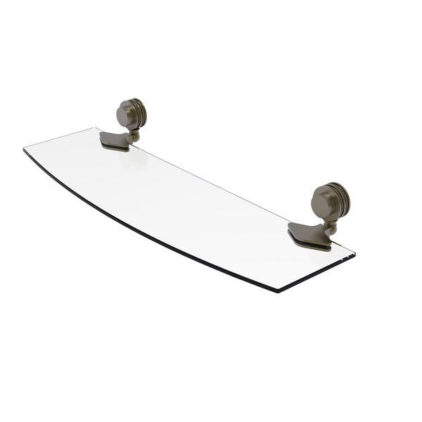 Shop Allied Brass Venus Collection 18 Inch Glass Shelf with Dotted ...
