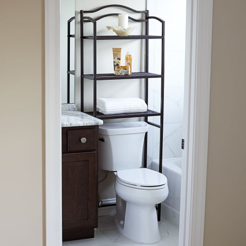Household Essentials Espresso Over-the-Toilet 3-tier Storage Rack