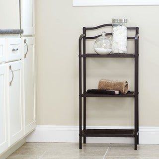 Household Essentials Espresso Free-Standing 3-Tier Shelves
