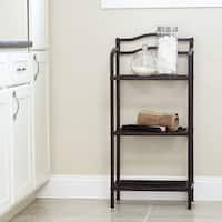 Household Essentials Espresso Free-Standing 3-Tier Shelves