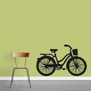 Vintage Cruiser Bike Wall Decal 48-inch wide x 30-inch tall