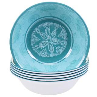Certified International Aqua Treasures 7.5-inch Melamine All Purpose Bowls (Set of 6)
