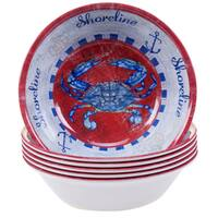 Certified International Maritime 7.5-inch Melamine Crab All Purpose Bowls (Set of 6)