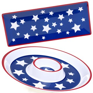Certified International Stars & Stripes Melamine 2-piece Appetizer Set