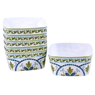Certified International Blue Grotto Melamine 5.75-inch Ice Cream Bowl (Set of 6)