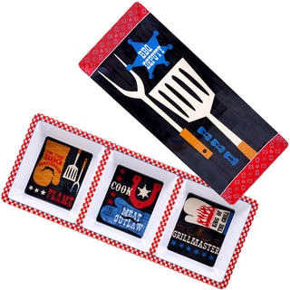 Certified International BBQ Bandit Melamine 2-piece Appetizer Set