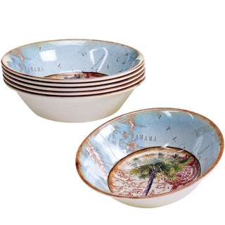 Certified International Antique Palms 7.5-inch Melamine All Purpose Bowls (Set of 6)
