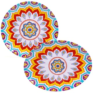 Certified International Akela Melamine 2-piece Platter Set