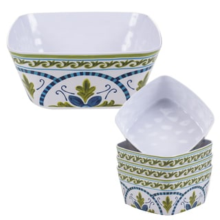 Certified International Blue Grotto 5-piece Melamine Salad/Serving Set