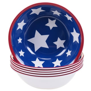 Certified International Stars & Stripes 7.5-inch Melamine All Purpose Bowls (Set of 6)