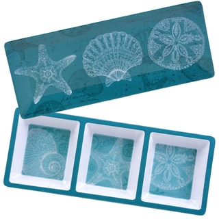Certified International Aqua Treasures Melamine 2-piece Appetizer Set
