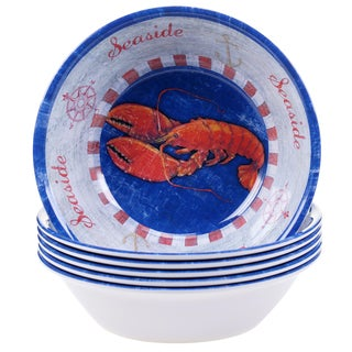 Certified International Maritime Lobster All Purpose Bowls (Set of 6)