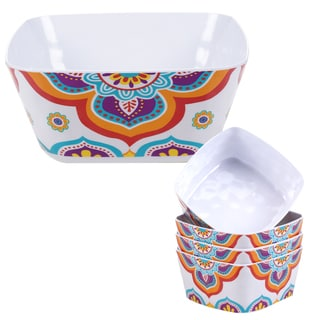 Certified International Akela 5-piece Melamine Salad/Serving Set