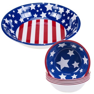 Certified International Stars & Stripes 5-piece Melamine Salad/Serving Set