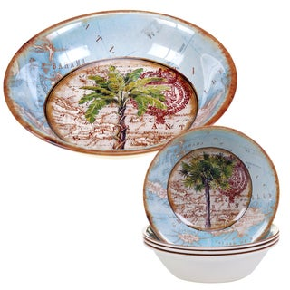 Certified International Antique Palms 5-piece Melamine Salad/Serving Set