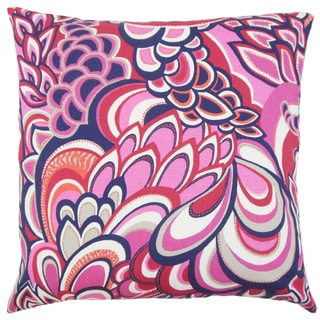 Michal Floral 18-inch Down and Feather Filled Throw Pillow