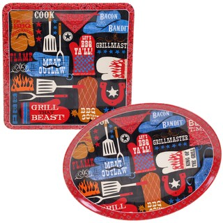 Certified International BBQ Bandit Melamine 2-piece Platter Set