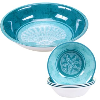 Certified International Aqua Treasures 5-piece Melamine Salad/Serving Set
