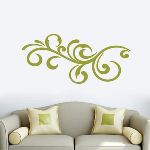 Decorative Scroll Flourish Wall Decal 48-inch wide x 22-inch tall