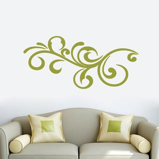 Decorative Scroll Flourish Wall Decal 48-inch wide x 22-inch tall