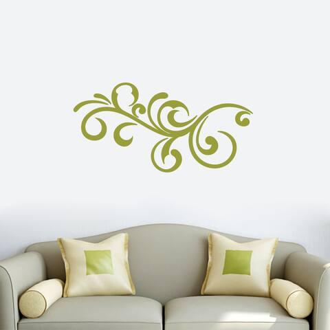 Decorative Scroll Flourish Wall Decal 36-inch wide x 18-inch tall