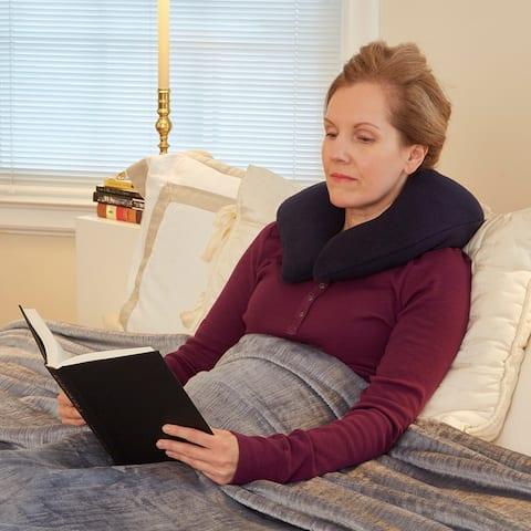 Khaki Neck Relief Buckwheat Pillow