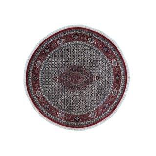 Bidjar Mahi 300 KPSI Hand-knotted Round Wool and Silk Rug (6'7 x 6'7)