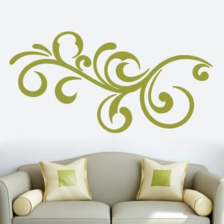 Decorative Scroll Flourish Wall Decal 60-inch wide x 30-inch tall