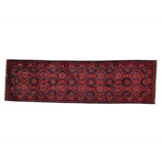 Afghan Khamyab Vegetable Dyes Handmade Runner Rug (2' x 6'10)