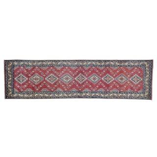 Tribal Design Kazak Handmade Oriental Runner Rug (2'9 x 10'5)