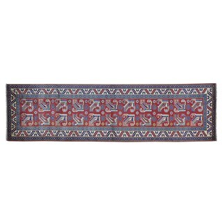 Pure Wool Red Handmade Super Kazak Oriental Runner Rug (2'10 x 10'4)
