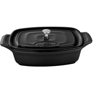La Cuisine Black Cast Iron Mini Rectangular 7-inch Casserole Dish
