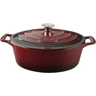 La Cuisine PRO Ruby Cast Iron Oval 6.75-quart Casserole Dish|https://ak1.ostkcdn.com/images/products/11367709/P18338121.jpg?impolicy=medium