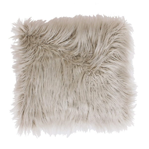 Marlo Lorenz Keller Thro Faux Mongolian Square Throw Pillow