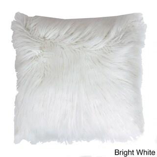 Thro by Marlo Lorenz Keller Faux Mongolian Square Throw Pillow