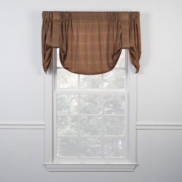 Shop Ellis Curtain Morrison Rust Tie Up Valance Free