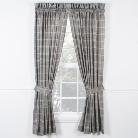 Ellis Curtain Morrison Black Panel Pairs with Ties