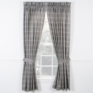 Ellis Curtain Morrison Black Panel Pairs with Ties (2 options available)