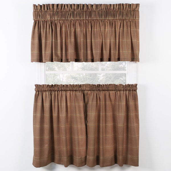 Shop Ellis Curtain Morrison Rust Tiers And Tailored